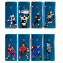 Sport Ice Hockey Sidney Crosby Cartoon Soft Silicon Phone Cases Cover Capinha Coque for Huawei Y3 Y5 Y7 Y9 Pro 2019