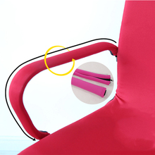 New 1 Pairs Solid Color Elastic Armrest Cover for Office Computer Chair Spandex Printed Zipper Design Gift