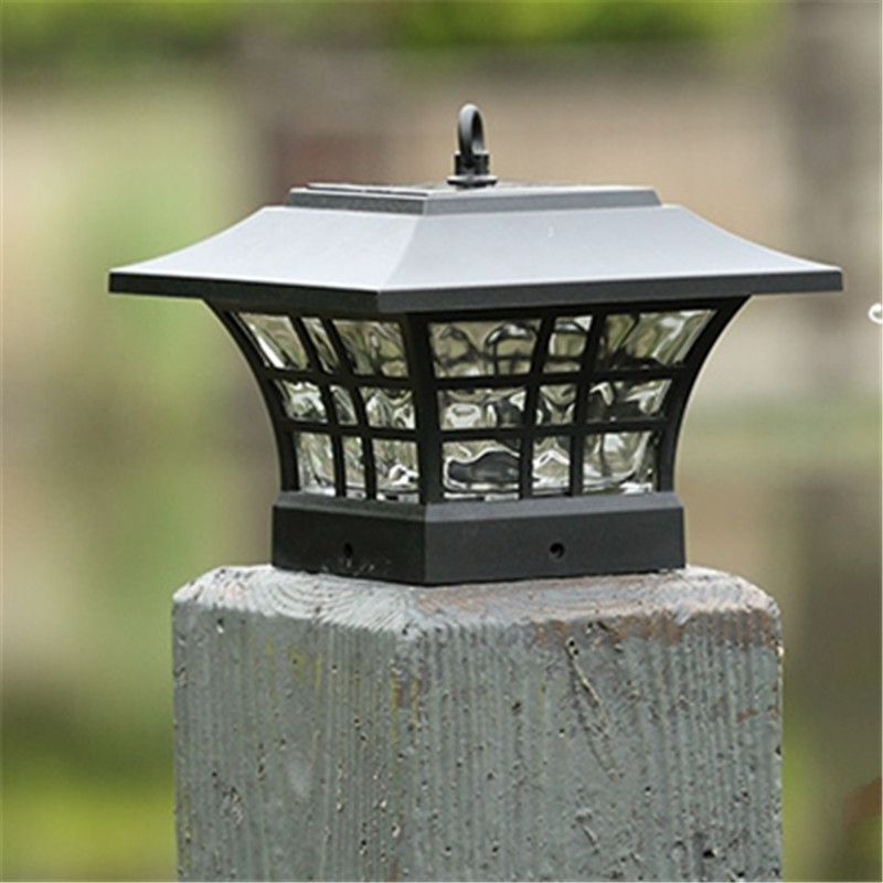 LED Solar Pillar Lamps Waterproof Hanging Lights Outdoor Modell