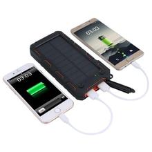 Solaire Power Bank 12000 mah Chargeur Portable Pour Iphone Xiaomi Mi Banque de Puissance 2 Batterie Externe Mobile Téléphone Powerbank
