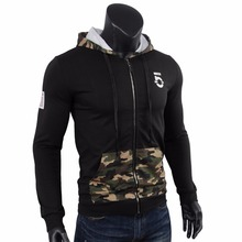 Hoodies Men camouflage Patchwork Hooded Hoodie moletom Sweatshirt Tracksuit Sportswear thrasher Mens assassins creed Military(China)