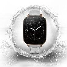 กันน้ำZeblazeคริสตัลโค้ง1.54นิ้วIPS IP65สมาร์ทนาฬิกาHRMจริงอัตราการเต้นหัวใจบลูทูธ4.0สายหนังแท้