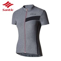Santic Jersey Women Cycling Jersey Summer Breathable Motocross Jersey Cycling Clothing Downhill Jersey Tops Maillot Ciclismo