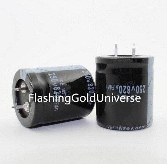 Free shipping 2pcs  820UF 250V  820UF  electrolytic capacitor  30*35 best qualityFree shipping 2pcs  820UF 250V  820UF  electrolytic capacitor  30*35 best quality