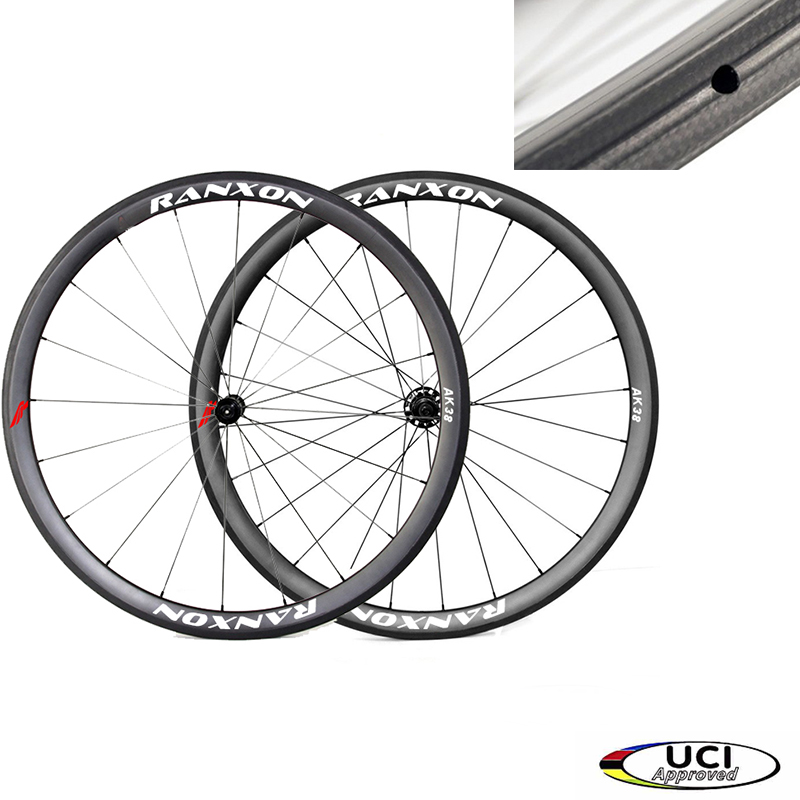 Ranxon UCI Approved Superlight  Racing Bicycle wheelset Road Bike Straight pull  Hub 38mm Depth Profile Tubular Carbon wheels 1350g 38mm clincher straight pull racing road bike carbon wheels bicycle carbon wheelset for r36 hub