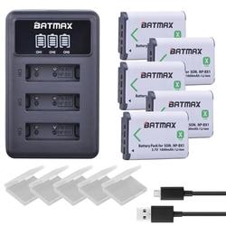 5 Pcs NP-BX1 NP BX1 Battery + 3 Slot LCD Charger untuk Sony DSC-RX100 DSC-WX500 IV HX300 WX300 HDR-AS15 X3000R MV1 AS30V HDR-AS300