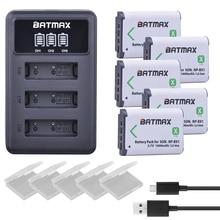 цена на 5pcs NP-BX1 np bx1 Battery + 3 Slots LCD Charger for Sony DSC-RX100 DSC-WX500 IV HX300 WX300 HDR-AS15 X3000R MV1 AS30V HDR-AS300