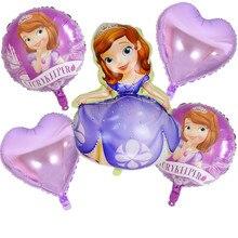 Мультфильм шляпа большая принцесса София надувные воздушные шары с гелием День рождения Свадебные вечерние украшения шляпа
