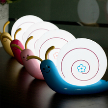 Universal LED Night Light Cute Snail 4 Colours Night Light Lamp Party Christmas Decoration Colorful Night Lights Led Lamp