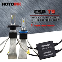 AOTOINK 3 CCT/Bulb 3000K 4300K 6000K H7 H4 Led H11 H1 H8 H11 Car Headlights Bulb Auto Led Fog Light 60W All In One