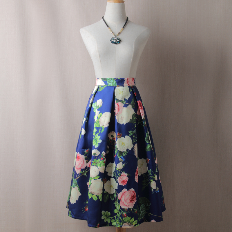 BACHASH Painting Skirts New 2018 Spring Summer Autumn Vintage Printed Ball  Gown Flared Tutu Casual High Waist Ladies Long Saia-in Skirts from Women s  ... 9b49d5aed57c