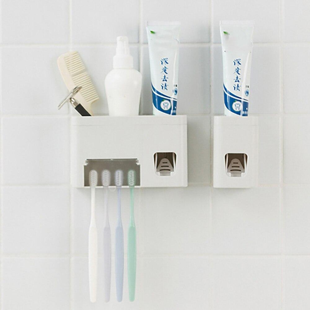 Bathroom Accessories Squeezer Toothpaste Dispenser Toothbrush Holder Automatic