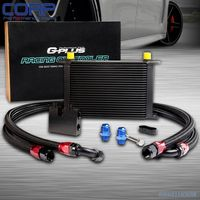 25Row Oil Cooler Kit For BMW N54 Engine Twin Turbo 135 E82 335 E90 E92 E93 BK