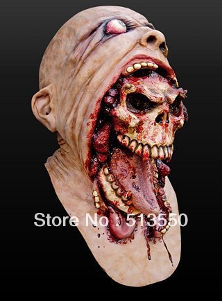 melting face zombie bloody undead horror adult latex scary insane halloween mask - Bloody Halloween Masks