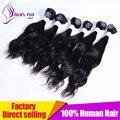 KUN NA INDIO cabello virgen de alta calidad, producto de pelo de la onda floja virgen del indio Del Pelo Humano Sin Procesar Teje