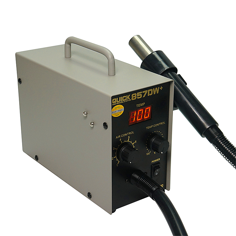 Tools : QUICK 857DW  Adjustable Hot Air Gun Soldering Station Heater Helical Wind Air Gun SMD Rework Station