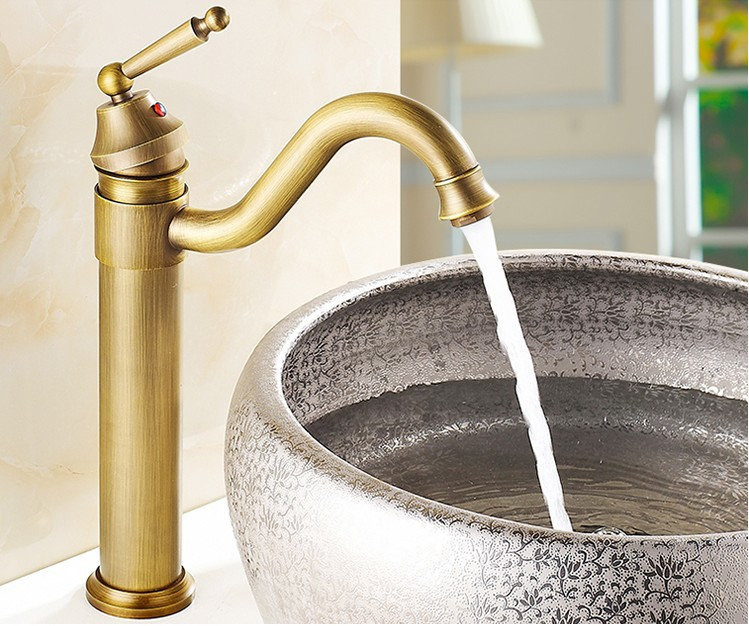 2016 Vintage Art antique brass finishing tap /Europe bathroom mixer /basin faucets hot and cold Water taps/bathroom sink faucet pastoralism and agriculture pennar basin india