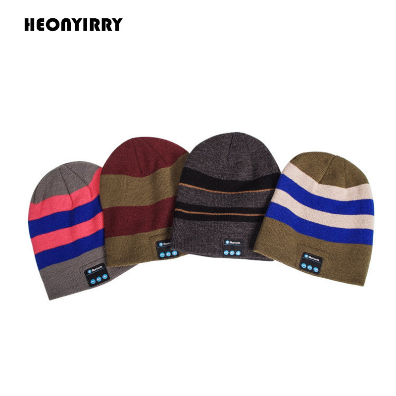 Wireless Bluetooth Headphones Hat Smart Caps Headset Warm Beanies Winter Hat with Speaker Mic for Sports Music Hat Earphone winter women beanies pompons hats warm baggy casual crochet cap knitted hat with patch wool hat capcasquette gorros de lana