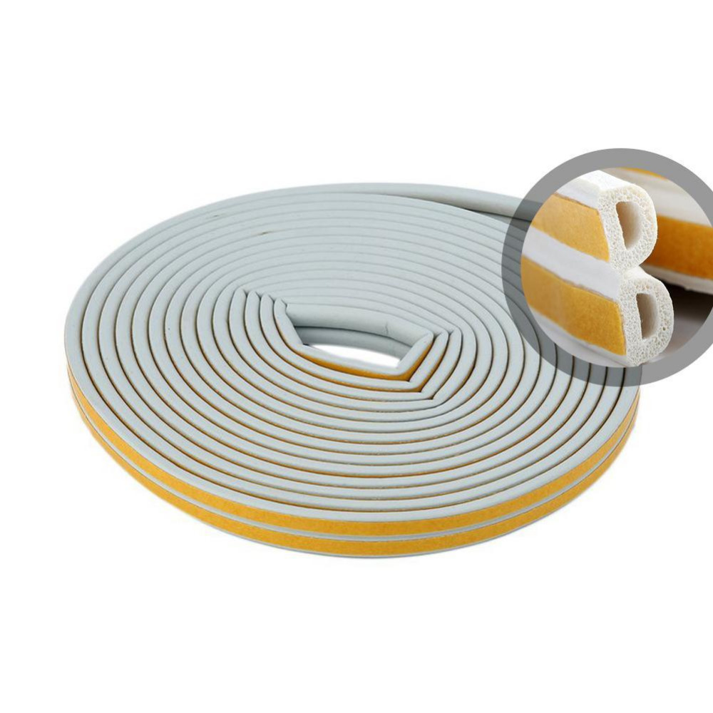 2018 New arrival 12m Foam Draught Excluder D Type Seal Strip Insulation for Door Window 2 color hot sale