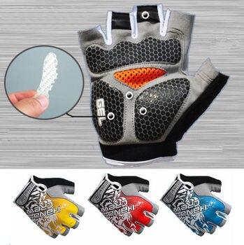 цена на Men/Women Cycling Gloves Half Finger Bike Bicycle Gloves Gel Silicone Padded MTB Road Racing Biking Gloves Fingerless Shockproof