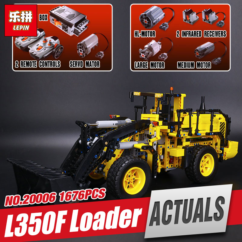 NEW LEPIN 20006 Genuine technic series 1636pcs Volvo L350F wheel loader Model Building blocks Bricks Compatible with 42030 Gift lepin 20006 technic series volvo l350f wheel loader model building kit blocks bricks compatible with toy 42030 educational gifts