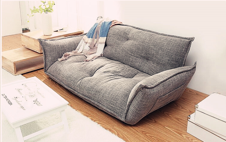 Modern Design Floor Sofa Bed  5 Position Adjustable Sofa Plaid Japanese Style Furniture Living Room Reclining Folding Sofa フォト フレーム 風 デザイン