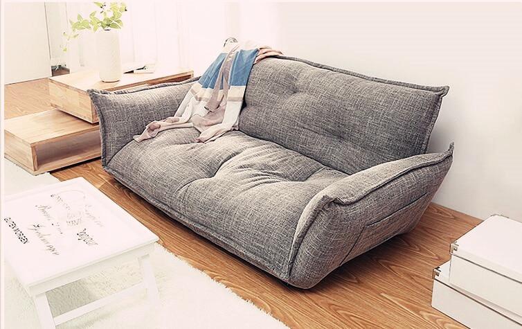 Design moderne canapé au sol Lit 5 Position Réglable canapé confortable style japonais Meubles Salon Inclinables divan pliant Canapé