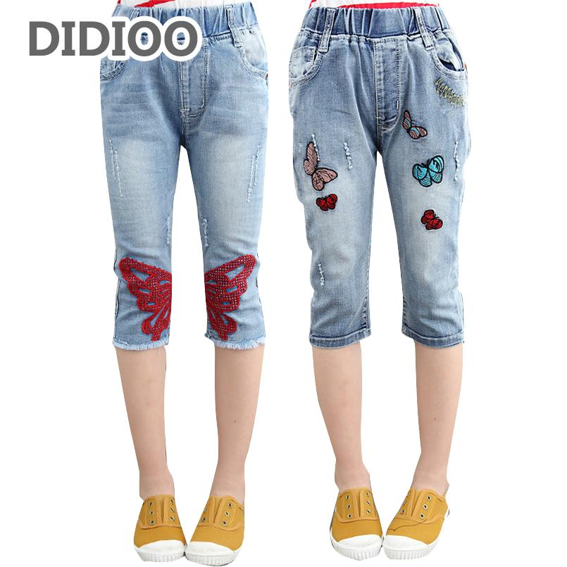 chicas pantalones vaqueros para nios pantalones de los nios pantalones cortos de mezclilla de verano
