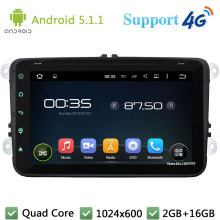 Quad Core 8″ 1024*600 Android 5.1.1 Car DVD Player Radio 4G DAB+ For VW PASSAT Polo Scirocco Sharan SEAT Multivan T5 Jetta EOS