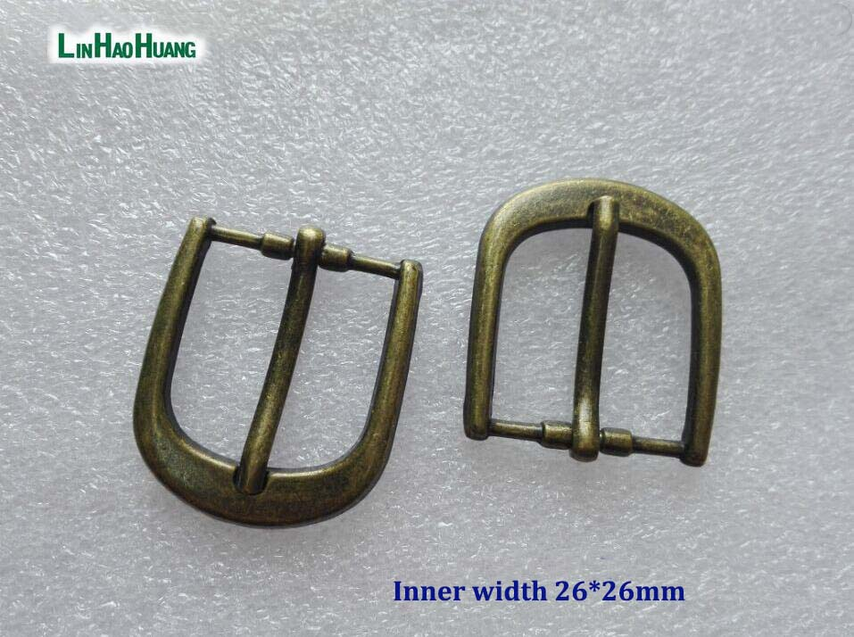 20pcs/lot 26mm 1inch simple zinc alloy metal buckle with pin bronze belt bucke 2016122302