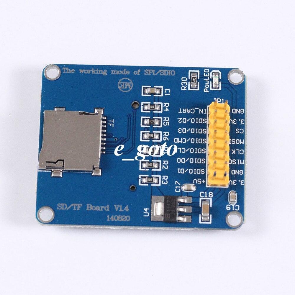 3 3V 5V Micro SD TF Dual Card Reader Module SPI SDIO Dual Mode Storage font