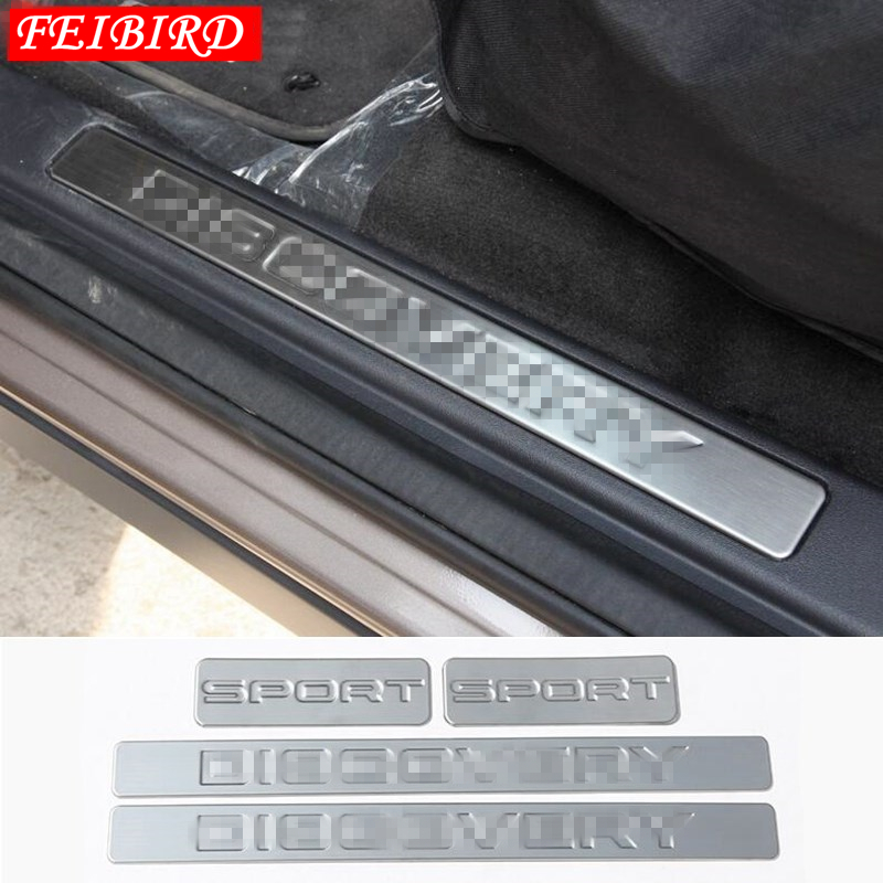 FOR LAND ROVER DISCOVERY SPORT 2015   2019 INNER CAR DOOR SCUFF PLATE INNER DOOR BUMPER PROTECTOR DOOR SILL PROTECTION COVER-in Interior Mouldings from Automobiles & Motorcycles