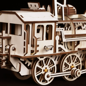 Image 5 - Robotime DIY saat dişli sürücü lokomotif 3D AHŞAP Model yapı kitleri oyuncaklar hobiler hediye çocuk yetişkin için LK701