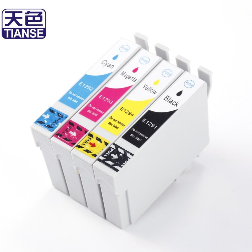 TIANSE T1291 T1292 T1293 T1294 Ink Cartridge For Epson Stylus SX230 SX235W SX420W SX425W SX430W SX435W SX438W SX440W Printer