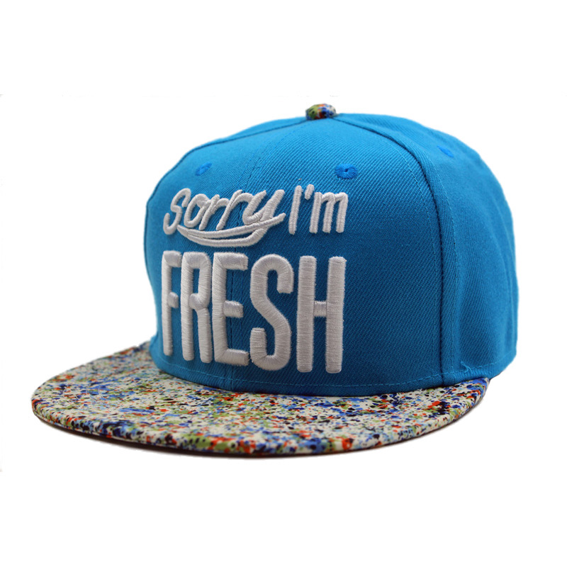 Men Women Baseball Hip Hop Cap Adjustable Fresh Snapback Embroidered Trucker Hat Blue wholesale spring cotton cap baseball cap snapback hat summer cap hip hop fitted cap hats for men women grinding multicolor