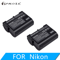 PALO 2PCS 7.0V 2500mAh EN EL15 ENEL15 EL15 camera battery for Nikon DSLR d600 d600 d800 d800e D810e d700 d7100 d7