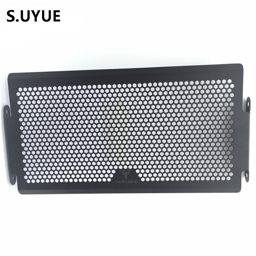 Black Motorcycle accessories Engine Radiator Bezel Grille Protector Grille Guard Cover For Yamaha MT07 MT-07 2014 2015 arashi motorcycle radiator grille protective cover grill guard protector for 2008 2009 2010 2011 honda cbr1000rr cbr 1000 rr