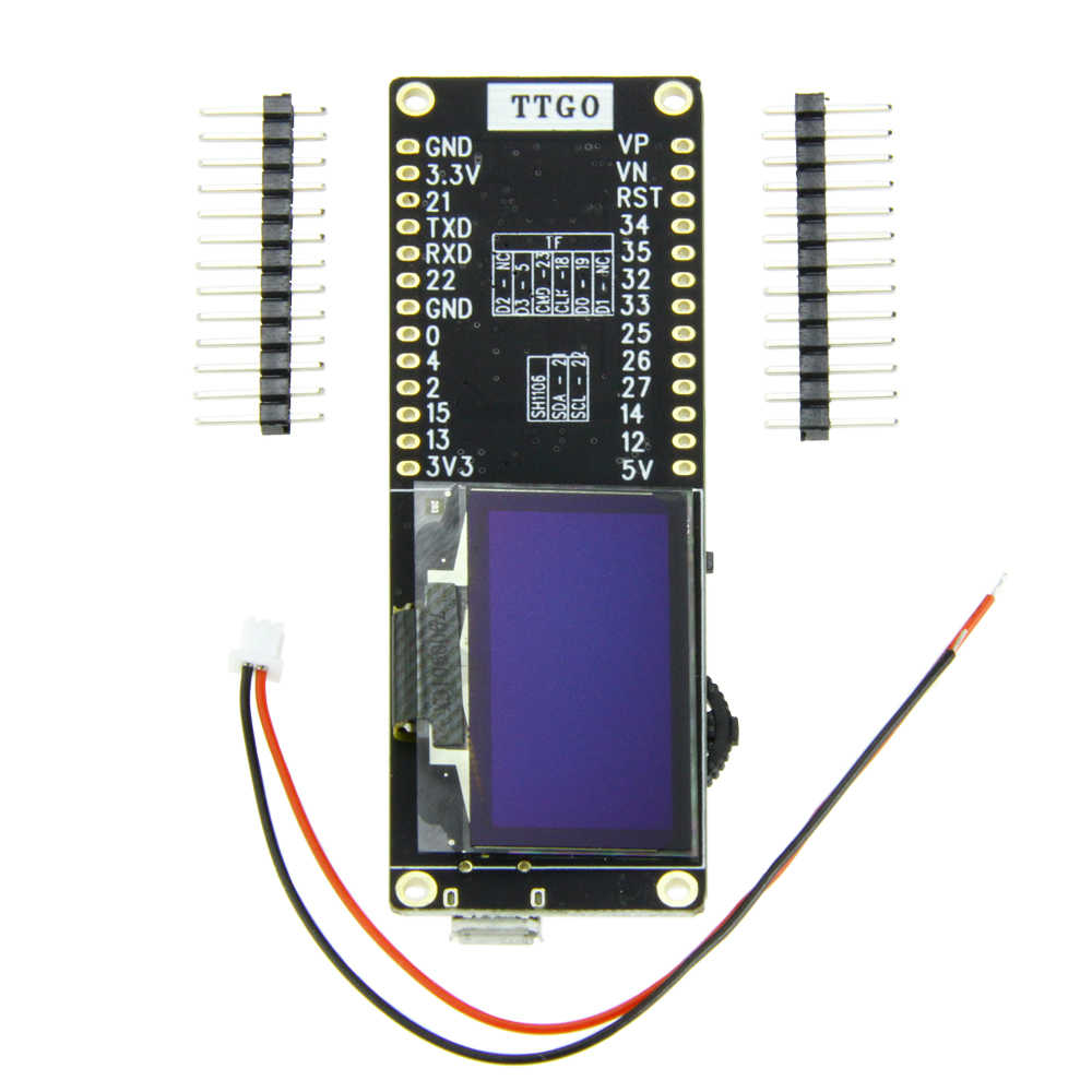 TTGO T-Eight ESP32 SH1106 1.3 Inch OLED Display IPEX 3D Antenna 4MB SPI Flash Psram Packet Monitor ESP32-WROVER Micropython