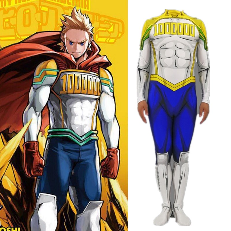 My Hero Academia Cosplay Jumpsuits Million Cosplay Costume Halloween Adult Kids Bodysuit  Zentai
