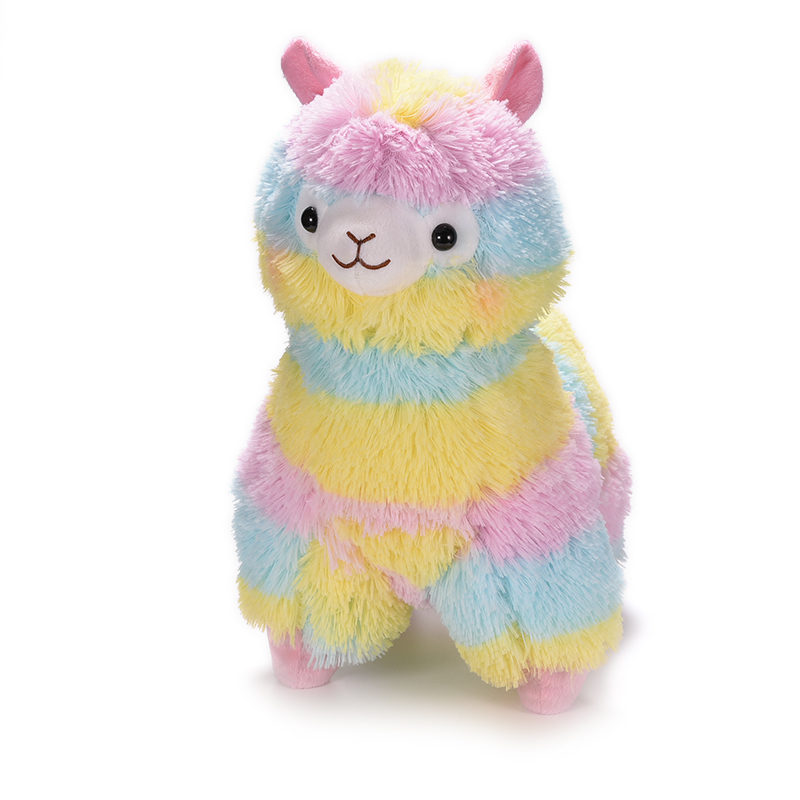 Japanese Plush Toys : Pcs cm rainbow alpaca plush toy japanese soft