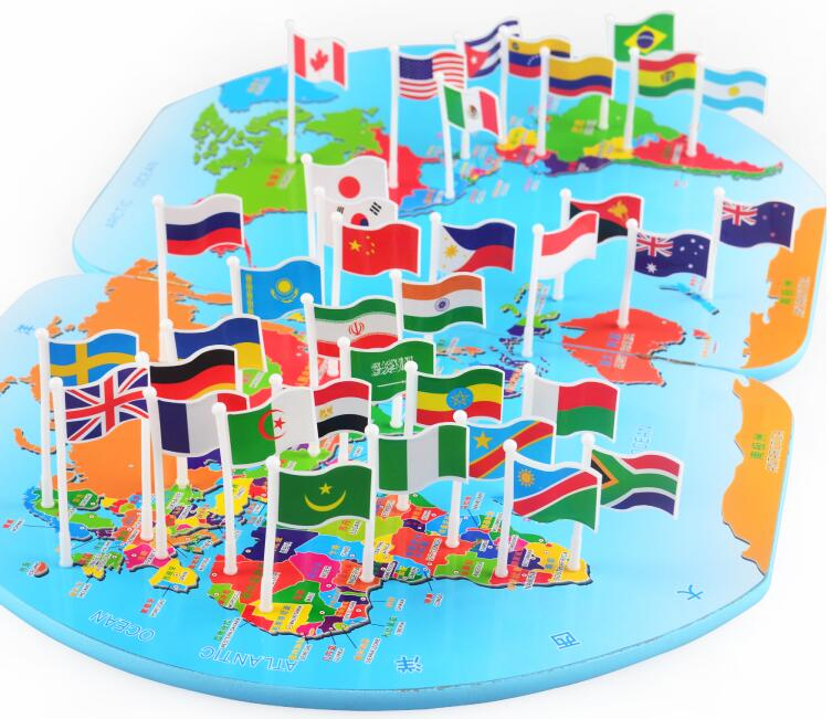 Candice guo wooden toy plastic flag map world knowledge country candice guo wooden toy plastic flag map world knowledge country flags global kid match game christmas present birthday gift 1set in gags practical jokes gumiabroncs Choice Image