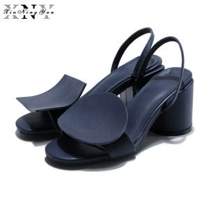 b5c36a747c4 XiuNingYan Luxury Woman Shoes Genuine Leather Sandals