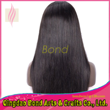 natural straight density 130% glueless full lace human hair wig Brazilian human hair lace front wig for black women
