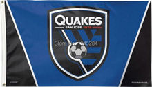 San Jose Earthquakes MLS Flag Banner 3x5FT 90x150CM New Polyester, free shipping