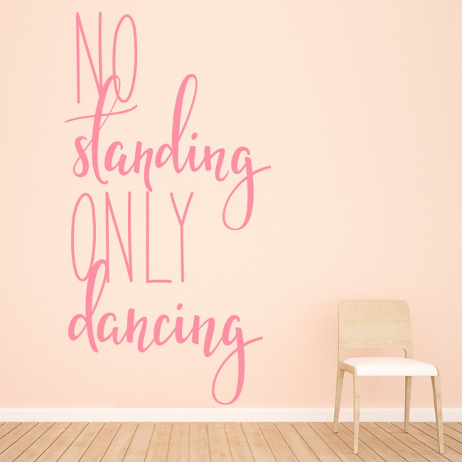 No Standing Only Dancing Quote Wall Sticker Teens Bedroom Removable Home Decor Vinyl Wall Decal Dance Studio Wallpaper Eb277 Wall Stickers Aliexpress