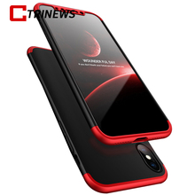 CTRINEWS 360 Degree Protection Case For iPhone X 8 8 Plus 7 Plus 6S 5S Shockproof Full Cover PC Phone Case For iPhone X Shell
