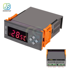 STC-100 DC 12V AC 110V-220V Digital Temperature Controller Thermostat Thermoregulator Thermometer Heating Cooling NTC Sensor bht 1000 ga ntc sensor temperature controller water heating thermostat