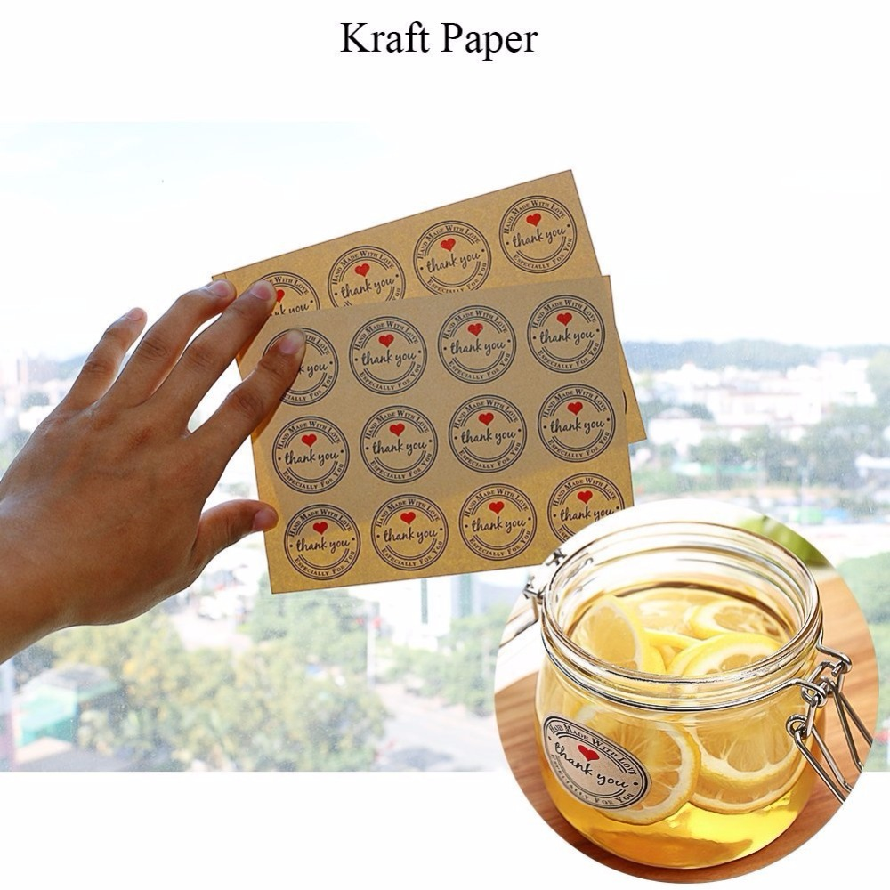 150pcs Thank You Stickers Label for Gift Boxes Packing Bags Cards and Thanksgiving Day Presents Kraft Thank You Adhesive Labe in Party DIY Decorations from Home Garden