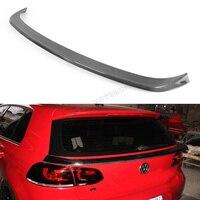100 Brand New MK6 Carbon Fiber Trunk Lip Spoiler Auto Car Middle Spoiler For VW Golf6