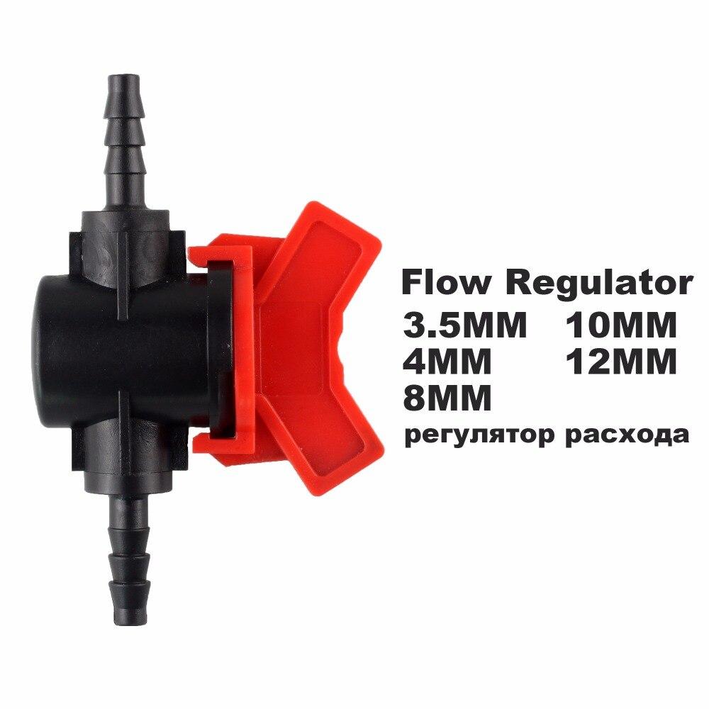 3.5 4 8 10 12 MM Four Species Flow Regulator Water Pump Straight Valve DIY Flow Switch Stop Valve